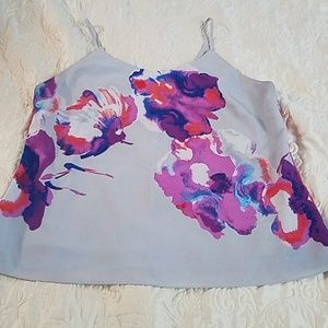 Grey and purple floral camisole